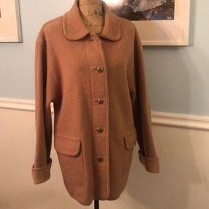 Talbots S Small tan basic wool coat Warm n stylish